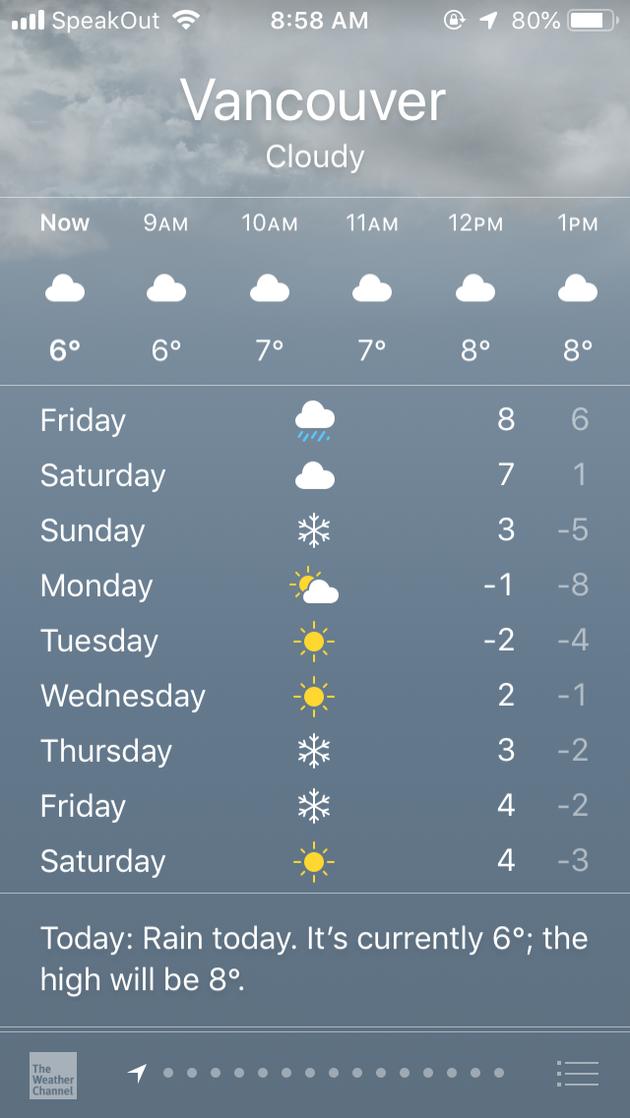 北米に最強の寒波到来!バンクーバーでも氷点下が続いています【カナダ・バンクーバー】